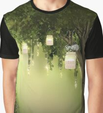 Enchanted Forest Heart Tree Graphic T-Shirt