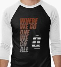 Where We Go One We Go All - Tigerstripes - QAnon Men's Baseball ¾ T-Shirt