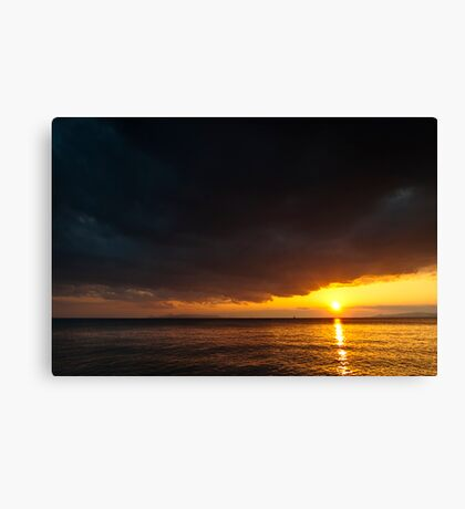 Under an angry sky. Canvas Print