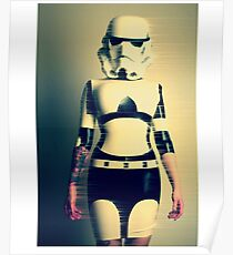 Stormtrooper, sexy tattoo girl Poster