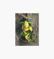Lemons On The Branch Art Board