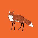 Fox - Animal Illustration - Kitsune by Davida Fernandez