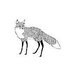 Fox in the snow - Animal Illustration - Kitsune in snow scene by Davida Fernandez