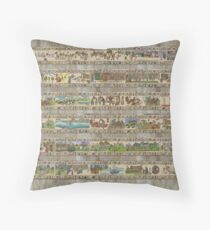 The whole Gabeaux Tapestry - story of Outlander Throw Pillow
