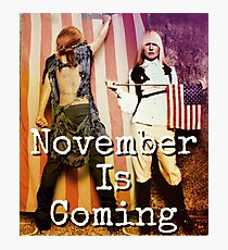November is Coming Photographic Print