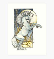 Unicorn Moon Art Print