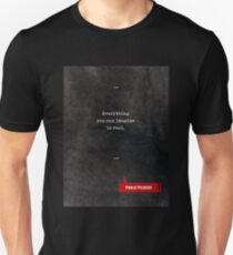 Pablo Picasso Quotes - Literary Quotes - Book Lover Gifts - Typewriter Quotes Unisex T-Shirt