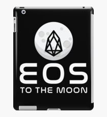 EOS Logo To The Moon Cryptocurrency iPad Case/Skin