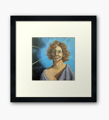 A portrait of someone... Full of deLIGHT... and a Sagittarius! Framed Print