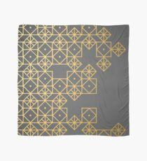 Geometric Gold Scarf