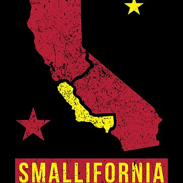 Smallifornia - California Split funny design by james006