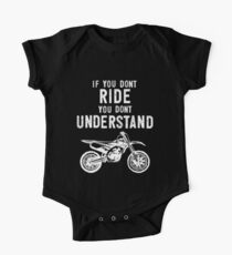 If You Don't Ride You Don't Understand MX Motocross White One Piece - Short Sleeve