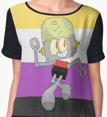 Robot Jones - Nonbinary Pride Chiffon Top