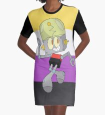 Robot Jones - Nonbinary Pride Graphic T-Shirt Dress