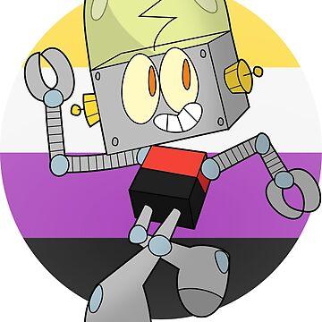Robot Jones - Nonbinary Pride by tehlu9prod