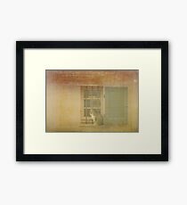 UN CHAT REGARDE MA FENETRE Framed Print