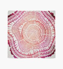 Tree Rings – Red Watercolor Scarf