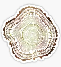 Tree Rings – Watercolor Sticker