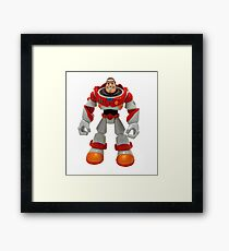 Buzz Lightyear from Toy Story film action figure.  Framed Print