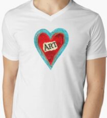 I LoVe ArT!! Men's V-Neck T-Shirt