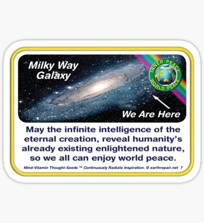 MILKY WAY GALAXY ~ WE ARE HERE Sticker