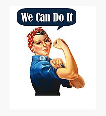 Womens Rosie The Riveter - We Can Do It! - Women's Feminist T-Shirt Photographic Print