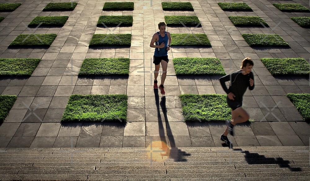The Runners - Colour Version by Lumière Unique |  Unique Light