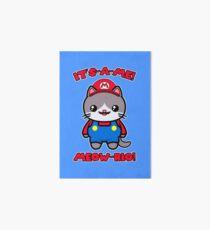 Cat Cute Funny Kawaii Mario Parody Art Board