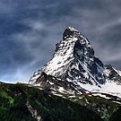 Matterhorn with fuzzy sky by Derivatix