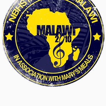 MFM Round Retro Monochrome Yellow And Navy by MusicForMalawi