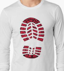 Disciples Boot Print (color red) Long Sleeve T-Shirt