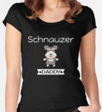 Schnauzer Daddy Women's Fitted Scoop T-Shirt