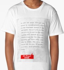 Ayn Rand Quotes - Atlas Shrugged Quotes - Literary Quotes - Book Lover Gifts - Typewriter Quotes Long T-Shirt