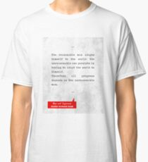 George Bernard Shaw Quotes - Man and Superman - Literary Quotes - Book Lover Gifts - Typewriter Art Classic T-Shirt