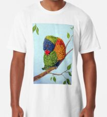 Shy Boy - Rainbow Lorikeet Long T-Shirt