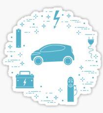 New transport eco technologies. Sticker