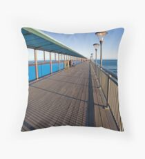 Boscombe Pier Throw Pillow