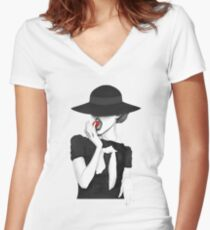 Juicy strawberry Women's Fitted V-Neck T-Shirt