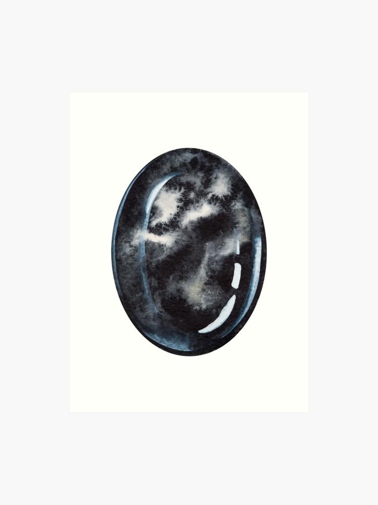 Black Onyx root chakra stone   Art Print