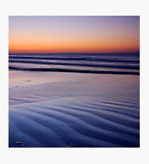 Minimal Blue Photographic Print