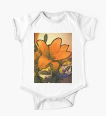 The Orange Flower and the White Roses One Piece - Short Sleeve