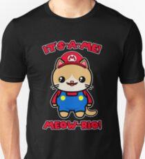Cat Cute Funny Kawaii Mario Parody Unisex T-Shirt