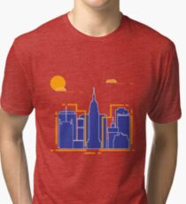 Building and skyscrapers. City view. Architecture. Tri-blend T-Shirt