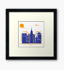 Building and skyscrapers. City view. Architecture. Framed Print