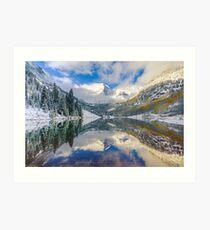Maroon Bells Colorado Mountain Landscape Reflection Art Print