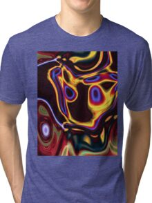 unique grunge cool abstract red hot rod flames Tri-blend T-Shirt