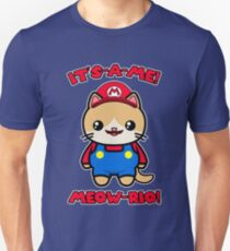 Cute Cat Funny Kawaii Mario Parody Unisex T-Shirt