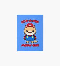 Cute Cat Funny Kawaii Mario Parody Art Board