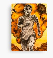 Running From an Explosion Like a Power Ranger Canvas Print