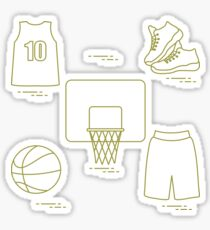 Sports uniform and equipment for basketball. Sticker